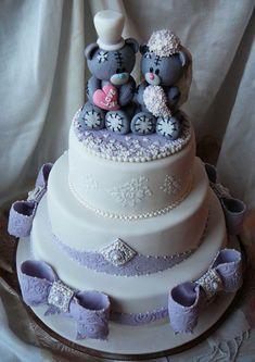 Свадебный торт Мишки Тедди