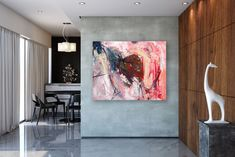 Large Modern Wall Art Painting,art paintings,home decor modern,office wall art,textured art decor - Wall Painting Tips Modern Wall Decor, Home Decor Wall Art, Art Decor, Cheap Interior Wall Paneling, Extra Large Wall Art, Office Wall Art, Art Paintings, Painting Art, Bedroom Paintings
