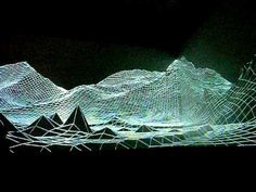 "_ondotzero 2010 (London) projection mapping installation ""Eyjafjallajokull"""