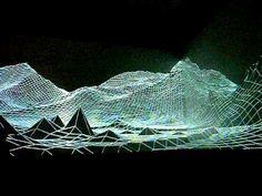 """_ondotzero 2010 (London) projection mapping installation """"Eyjafjallajokull"""""""