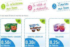 Des bons de réduction Danone pour faire des économies sur les yaourts.