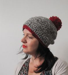Your place to buy and sell all things handmade Winter Hats, Gray, Trending Outfits, My Style, Crochet, Unique Jewelry, Handmade Gifts, Vintage, Fashion