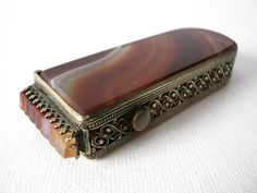 Victorian Carnelian Agate Match Striker Case With by CastEyesUpon, $95.00
