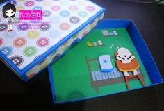 boxed baby invitation