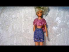 Одежда для кукол своими руками. Ажурное вязаное крючком платье для куклы Барби. Barbie doll dress - YouTube