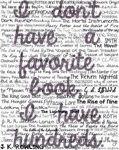 hundreds of favorite #books