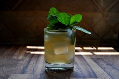Minty Gin Mule  2oz. Gin [Hendricks used here]  3/4oz. Lime Juice  3/4oz. Mint Syrup  2 Dashes Grapefruit Bitters  Ginger Beer