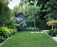 A backyard garden designed for outdoor living When Matt Cantwell first saw this rear garden in Sydney's north, it was overgrown and dated. Pebblecrete stepping stones led through a