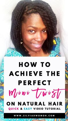 Learn How to mini twist natural hair easily and simply
