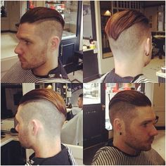 Shaved slick back undercut