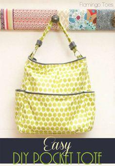 Free Bag Pattern and Tutorial - Easy DIY Tote Bag