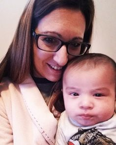 """""""Andre's First Christmas"""" morning selfie with Gmom! --------------------- #LoveHim #GmomsLove #babiesfirstchristmas #selfie #LilSquish #familytime"""