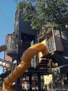 Downtown Container Park Treehouse Slide