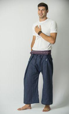 Unisex Thai Fisherman Pants in Dark Blue