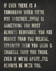 Always Remember A.A Milne Quote inspirational by PrintRevolution
