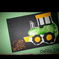 Footprint tractor craft for farm party