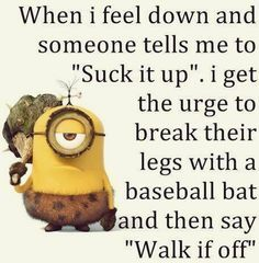 Minions are Awesome, Funny & cute ! Just like Funny Minions, There some memes are also extreme hilarious . So here are some very funny minion memes, they wi. Minion Humour, Funny Minion Memes, Funny Jokes To Tell, Minions Quotes, Hilarious, Funny Humour, Minion Sayings, Let It Go Funny, Smiley Quotes