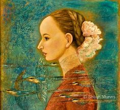 """Summer Song"" oil on canvas 24x27""  2013  © Shijun Munns  #Art #OilPaintings  #painting Original Paintings, Original Art, Summer Songs, Traditional Artwork, Oil Painters, We Are The World, Fine Art Gallery, Spring, Folk Art"