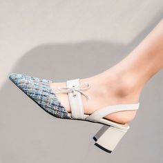 CHIKO Chiko Ervin Slingback Pumps feature pointy toe, slingback upper, block heels with rubber sole. Shoes Heels Pumps, Low Heel Shoes, High Heels, Women's Shoes, Pretty Shoes, Beautiful Shoes, Pointed Toe Block Heel, Block Heels, Low Block Heel Pumps