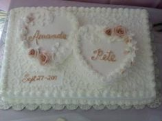 Sheet and heart cakes