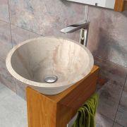 Cónico Lavabo sobre encimera | The Bath Collection Ref. 00305 (beige) Referencia: 00306 (negro) Medidas: 405x160 mm