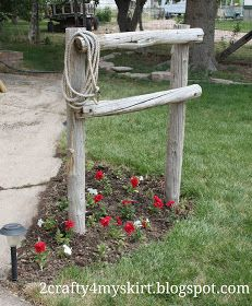 2 Crafty 4 My Skirt: Front Yard Western Decor ~ Hitching Post