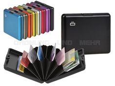 ögon BIG STOCKHOLM - Aluminium Kartenetui Geldbörse Wallet für bis zu 12 Karten - 8 Farben