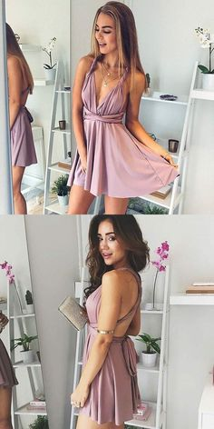 Homecoming dresses, Chic blush party dresses, cheap a-line fashion gowns, simple party dresses. Short dresses