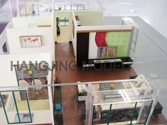 Architectural scale model for interior decoration design