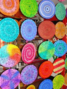 Benutzerdefinierte Mandala Raumteiler aus 35 gemalt