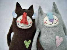 repurposed wool sweater cats, from Etsy