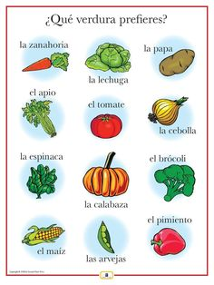 Introduce vegetables with this colorful 18 x 24 in. poster that includes a free guide with teaching suggestions and practice worksheets.