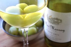 Freeze grapes and use them to keep your wine chilled without watering it down.