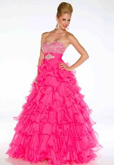 hot pink prom dresses This is so cute(: