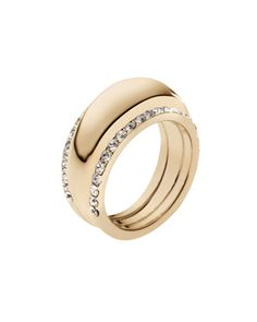 Pave-Insert Ring, Golden by Michael Kors at Neiman Marcus. $115