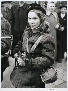 Erika, a Hungarian fighter who fought for freedom against the Soviet Union. [October - 52 Photos of Powerful Women Who Changed History Female Hero, Female Soldier, Mädchen In Uniform, Erich Hartmann, Colorized History, Swedish Women, Hungarian Girls, Military Women, Freedom Fighters