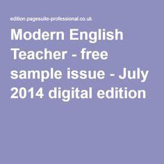 Modern English Teacher - free sample issue - July 2014 digital edition