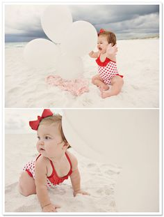Beach Baby Session by Nichole Burnett Photography - 1 Year photos