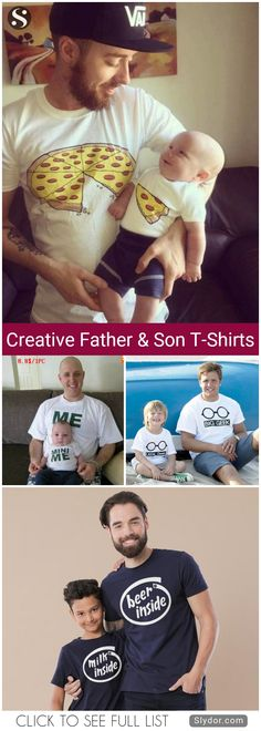 Most Creative Father And Son T-Shirts You Will Ever See	#tshirt #design #creative #beauty #art #family #fun #funny
