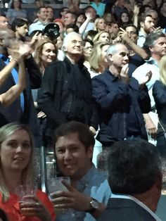 Jimmy Page at U2 concert in New York 23 Jul 2015