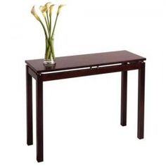 # W32692B Console/hall Table With Chrome Accent by sensationaltreasures