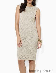Вяжем ажурное платье, как у Ralph Lauren - knitting-pro.ru - От азов к мастерству