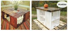 Un montón de ideas para reciclar cajas de fruta / Recicled wood box ideas.