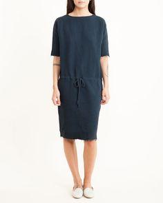 Slim Dress in Navy by #blackcrane