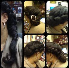 Fat braids on natural hair