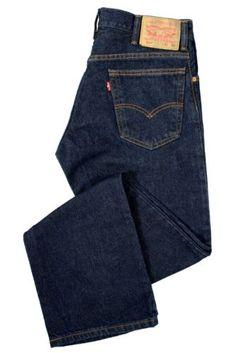 Levis Jeans 517 Boot Cut Leg Dark Indigo Blue Rinse Cotton Denim Mens Pants New
