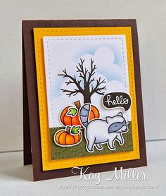 My Joyful Moments blog- Lawn Fawn Critters in the Forest and Thankful,  Tree- Papertrey Ink