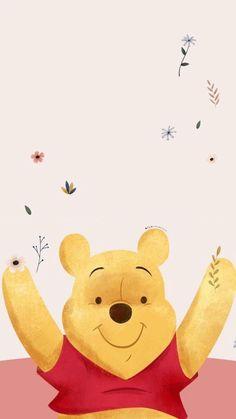 Winnie The Pooh Background, Winnie The Pooh Cartoon, Winnie The Pooh Drawing, Winnie The Pooh Pictures, Winne The Pooh, Cute Winnie The Pooh, Disney Phone Wallpaper, Wallpaper Iphone Cute, Cute Christmas Wallpaper