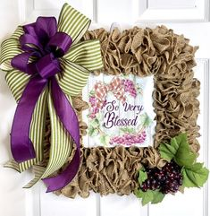 Excited to share this item from my shop: Everyday Burlap Wreath, Square Burlap Wreath, Grape L Diy Wreath, Mesh Wreaths, Burlap Wreaths, Burlap Cross Wreath, Burlap Crafts, Diy Crafts, Wreath Making, Wreath Ideas, Easter Wreaths