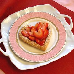 heart puff paste filled with lemon curd strawberries